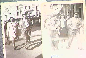 Celia and Mark Tiano in 1945 & 1946. Pictures from Celia's testimony.