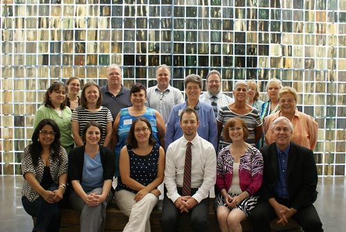 Staff and seminar participants at Holocaust Museum Houston