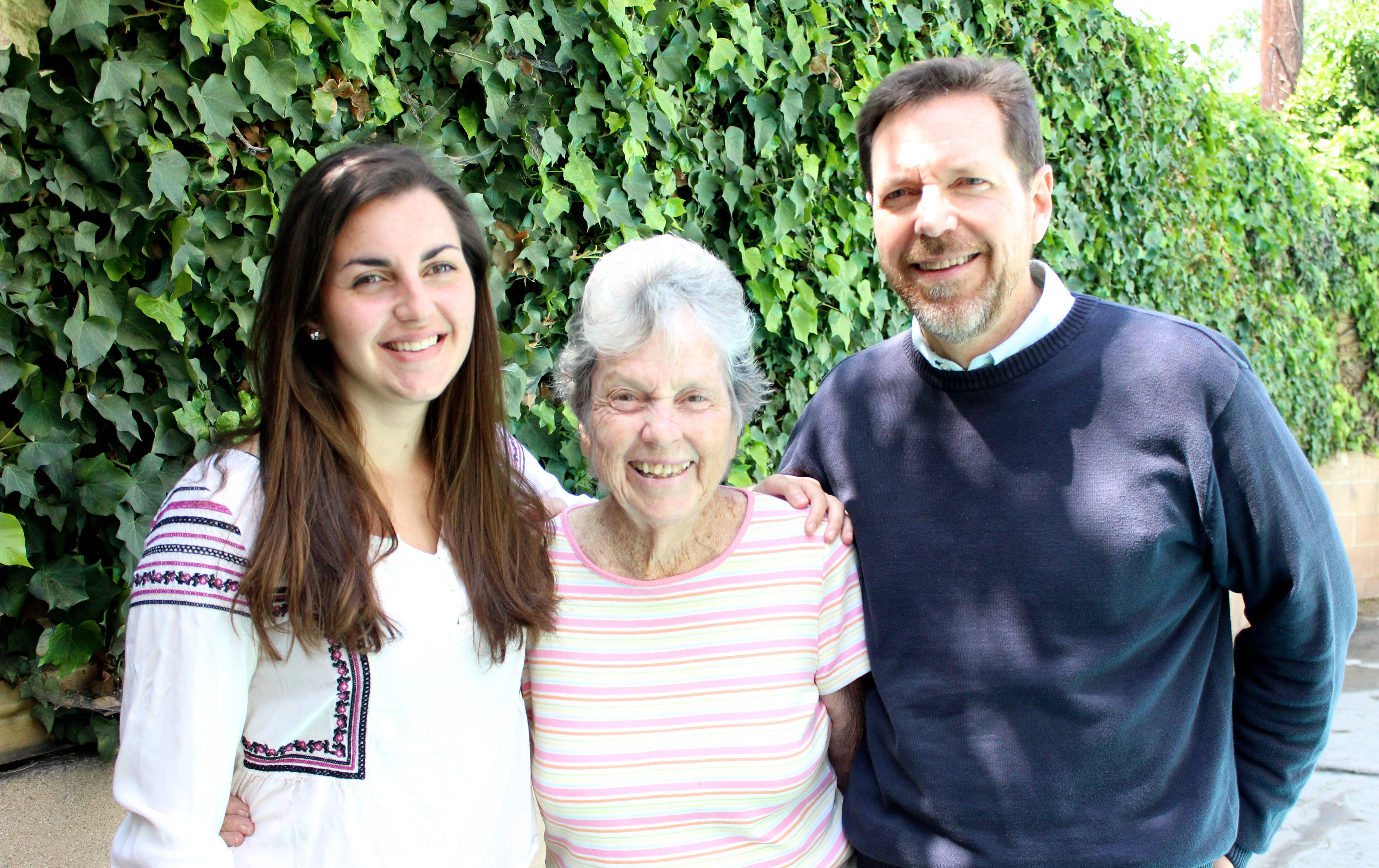 Marina with her grandmother Angela and father.