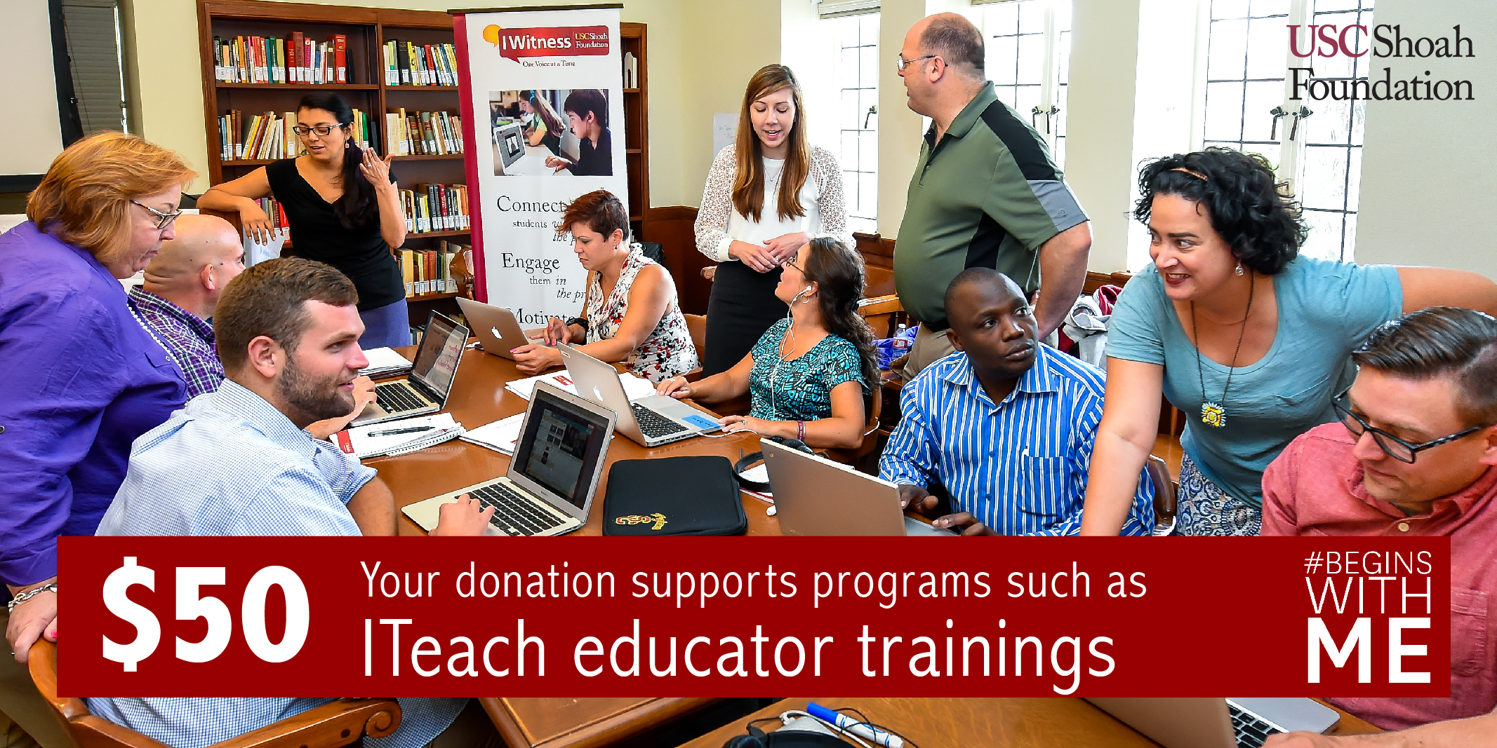 Your $50 donation can help fund our ITeach Program