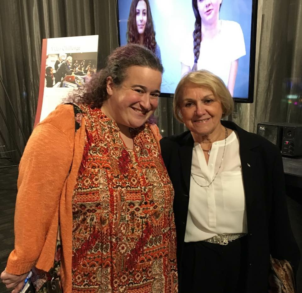 Holocaust survivor Paula Lebovics and I at USC Shoah Foundation's Ambassadors for Humanity Gala.