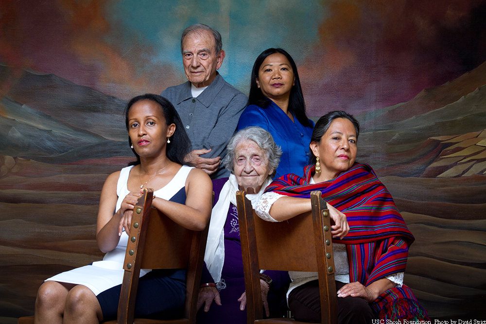 Survivors from five genocides have testimony in USC Shoah Foundation's Visual History Archive, including Edith Umugiraneza, Rwanda; Dario Gabbai, Holocaust (born in Greece); the late Yevnige Salibian, Armenia; Sara Pol-Lim, Cambodia