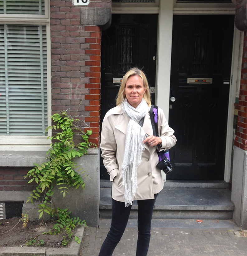 Citron outside of her grandparent's home in Holland.