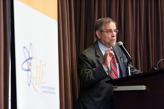Michael Berenbaum speaks at the IWitness-CIJE launch event at USC, February 26, 2015
