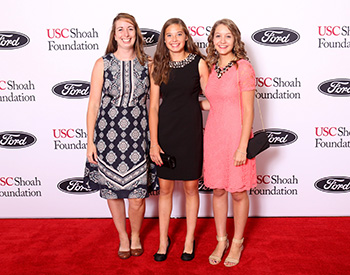 2015 winners Lisa Farese, Emma Heinz and Natalia Podstawka at the Ambassadors for Humanity gala in Detroit