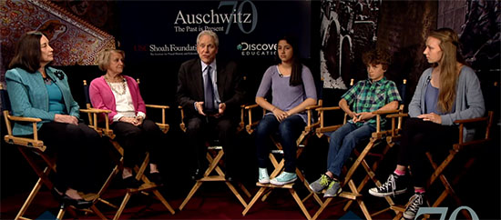Panelists for USC Shoah Foundation and Discovery Education - Auschwitz: The Past is Present Virtual Experience