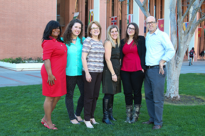 Left to right: Renita Thomas-Franklin, Lauren Carter, Ann Eling, Kim Simon, Lara Bradshaw, Aaron Zarrow