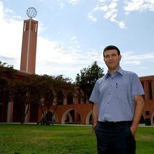 Dr. Eyal Kaminka visiting the USC campus, 2013