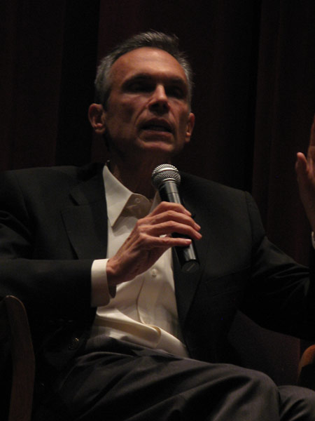 Michael Renov, Associate Dean of Academic Affairs, USC School of Cinematic Arts, and Professor of Cinema, speaks at the post-screening discussion panel.