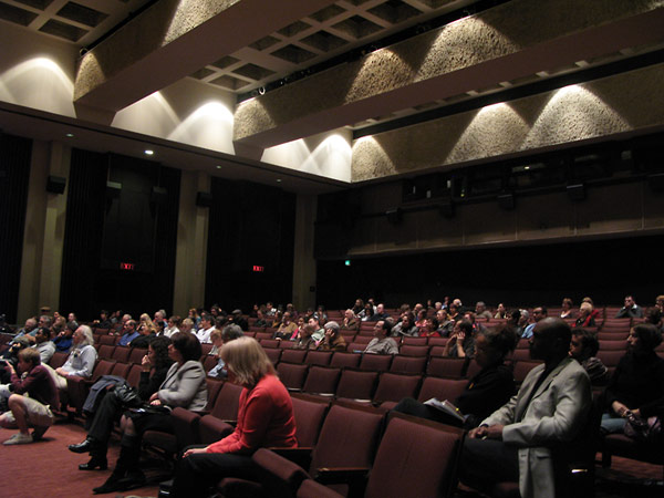 The audience during the Question and Answer session of the discussion panel that followed the screening.