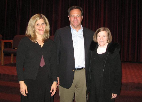 Kim Simon, with Marc and Shirley Grossman.