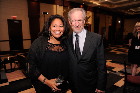 Karla Ballard of One Economy Corporation and Steven Spielberg