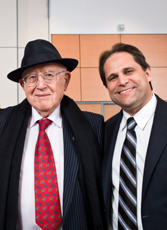 Branko Lustig (left), and Ari Zev, USC Shoah Foundation Institute Director of Administration.