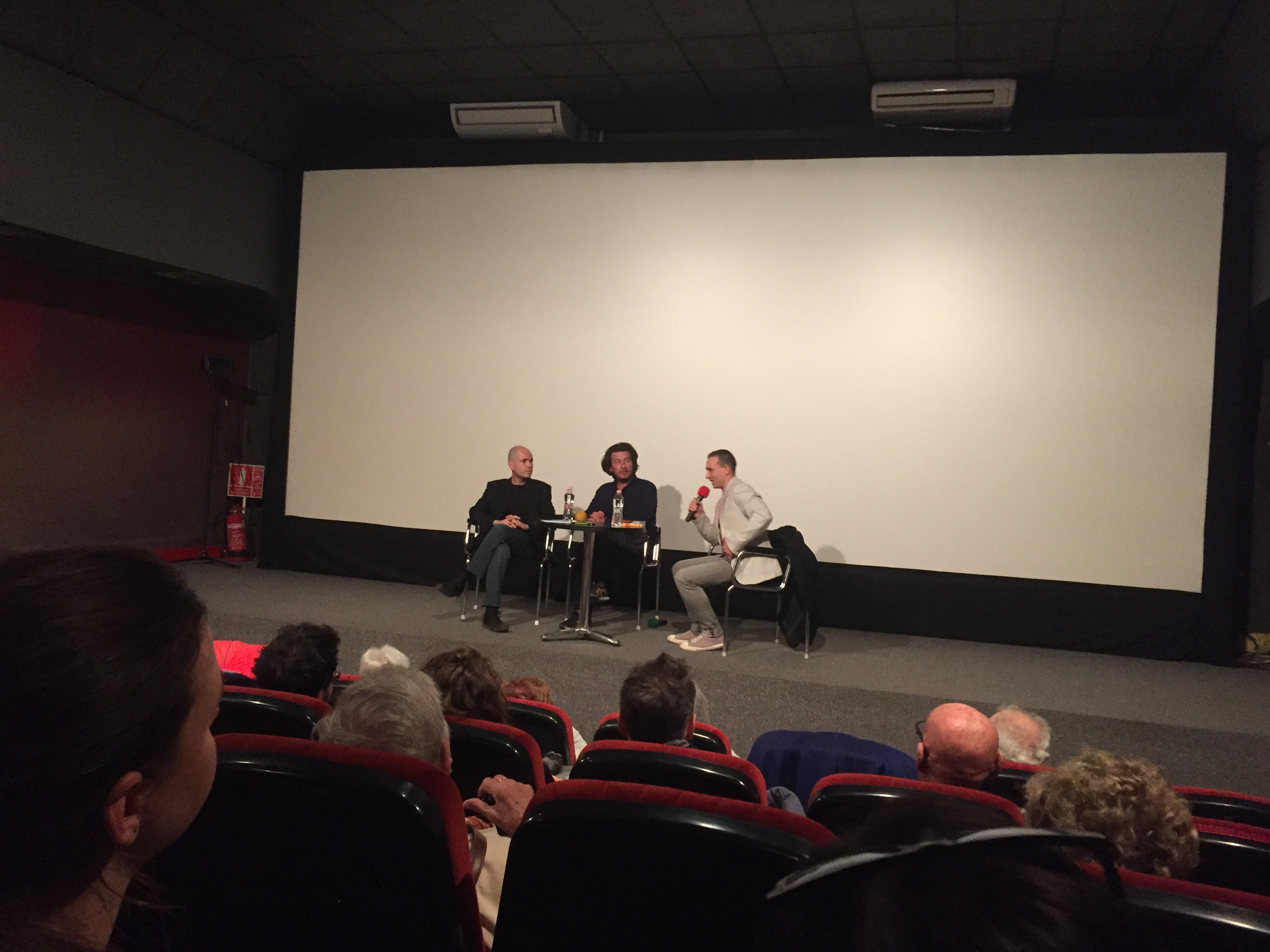 From left: Gabor T Szanto, Ferenc Torok, moderator Gergo Body