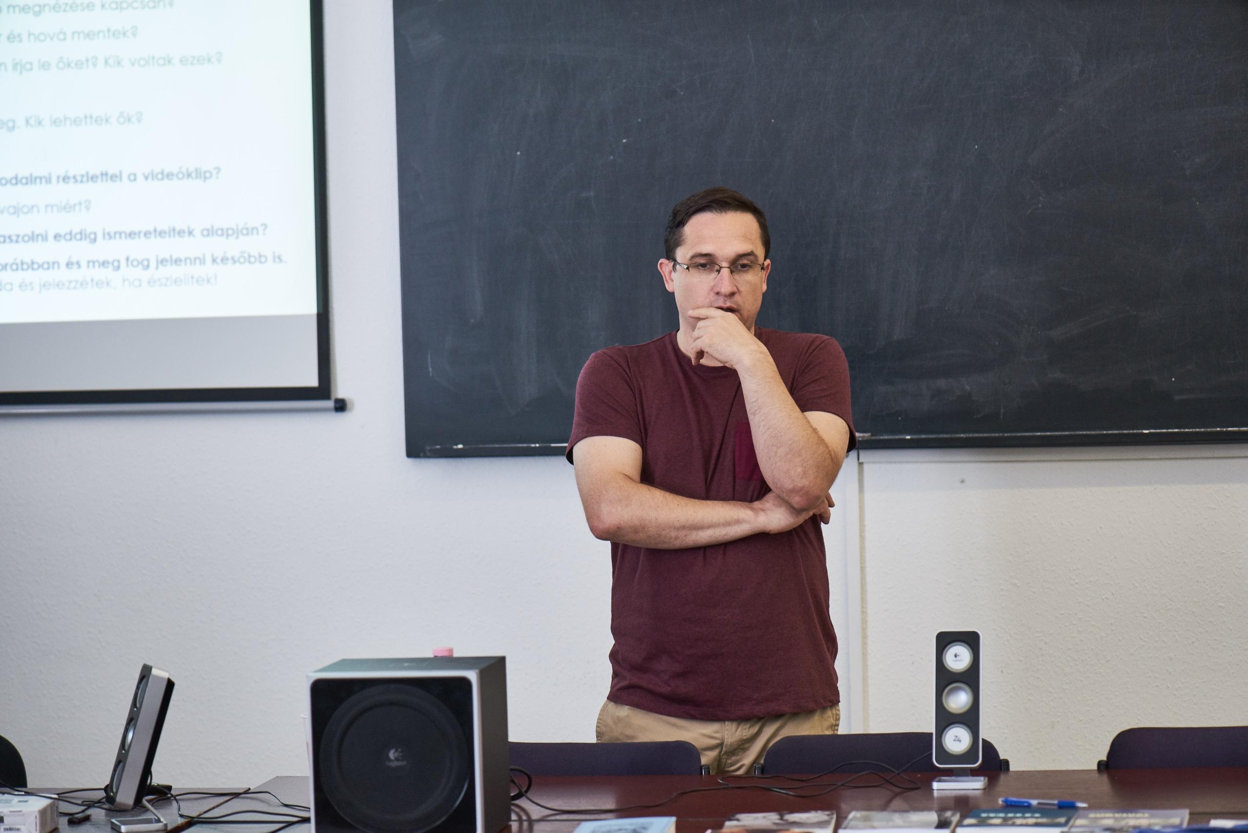 Gábor Szalánczy - high school teacher of History (Budapest)