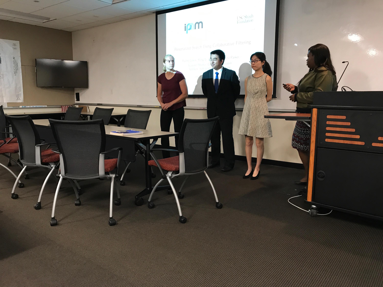 From left: Kira Parker, Eric Gao, Lucia Li, Rachel Lewis