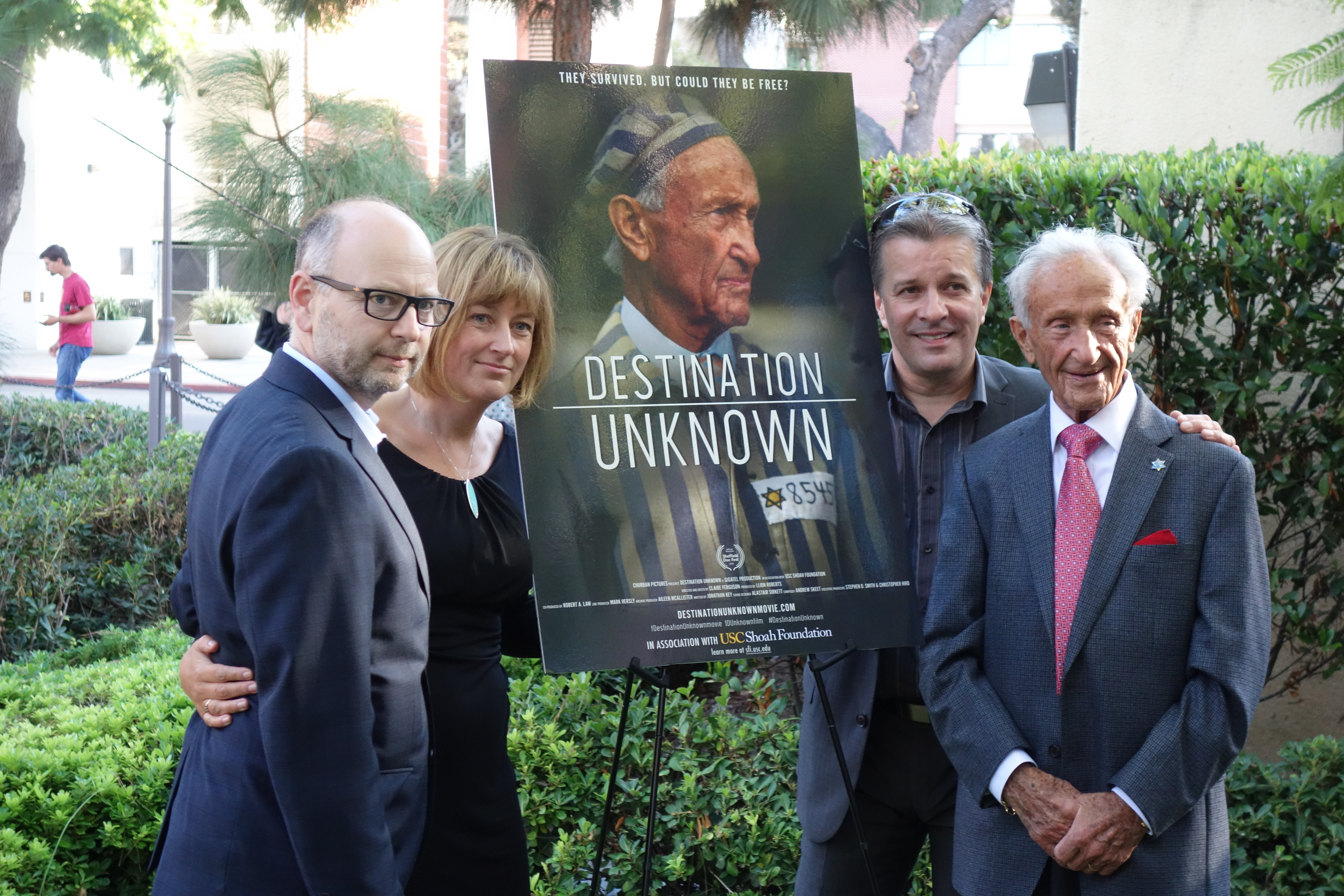 Stephen Smith, Claire Ferguson, Llion Roberts and Ed Mosberg at the USC screening
