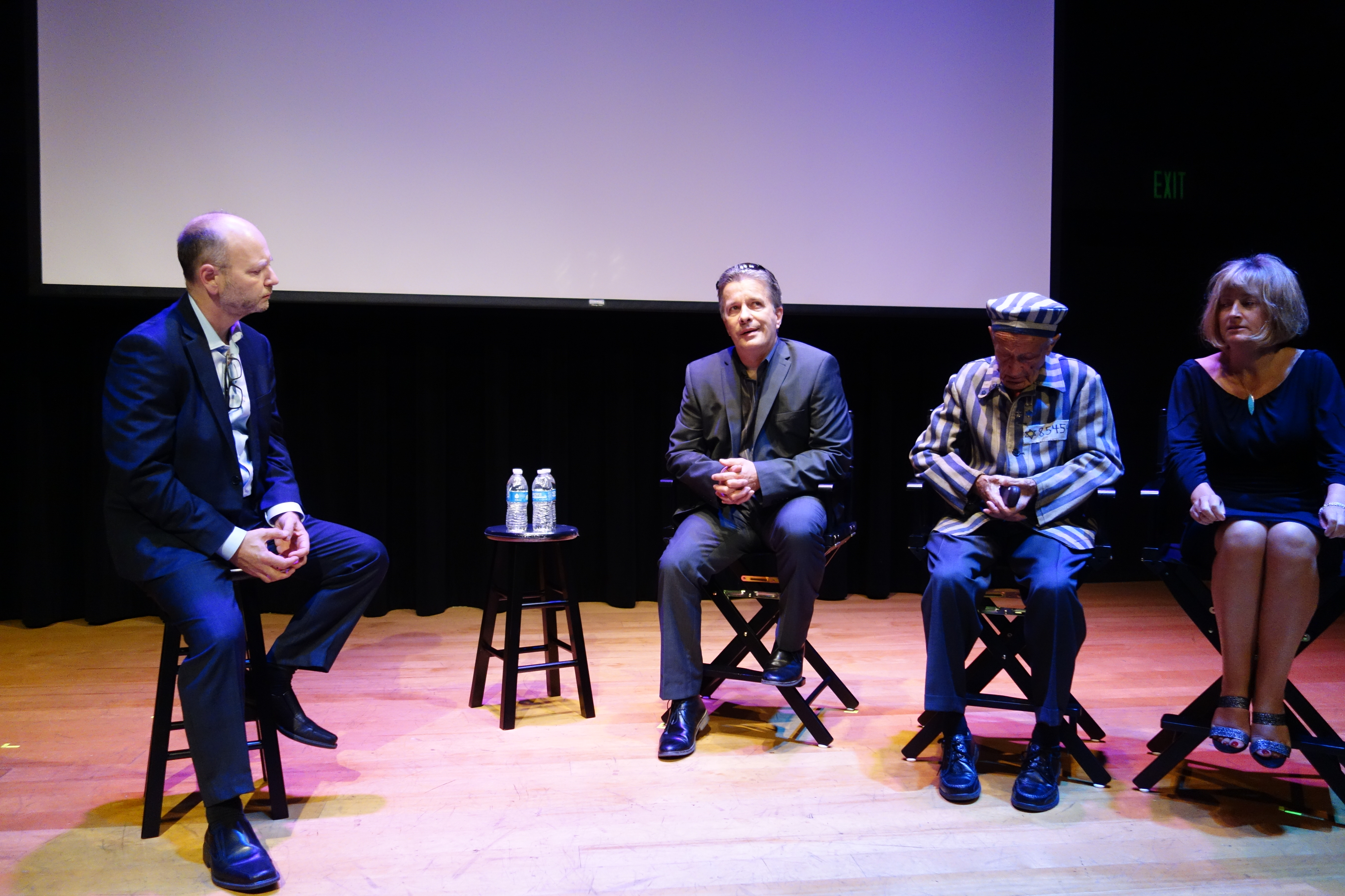 Stephen Smith, Llion Roberts, Ed Mosberg and Claire Ferguson at the USC screening