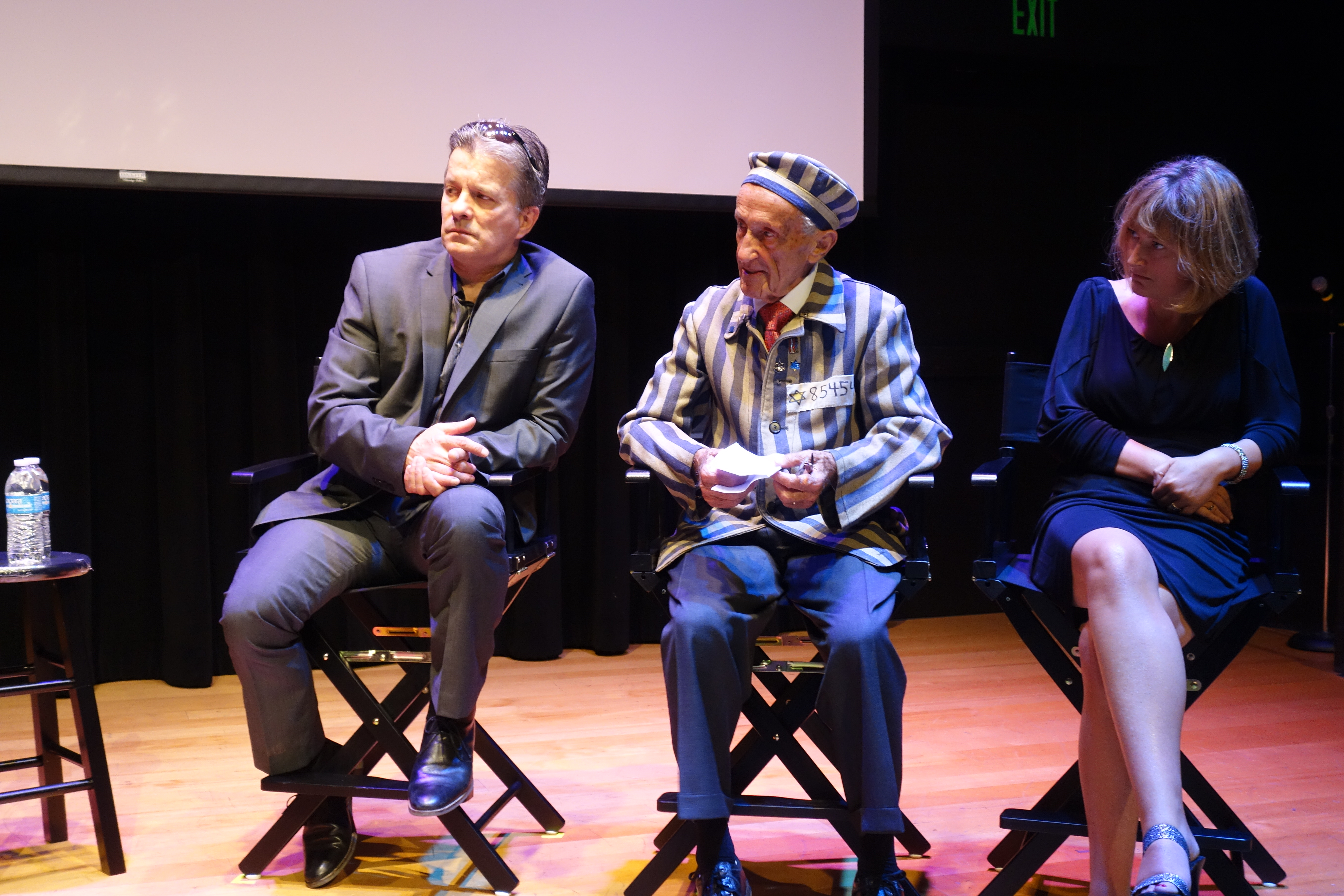 Llion Roberts, Ed Mosberg and Claire Ferguson at the USC screening