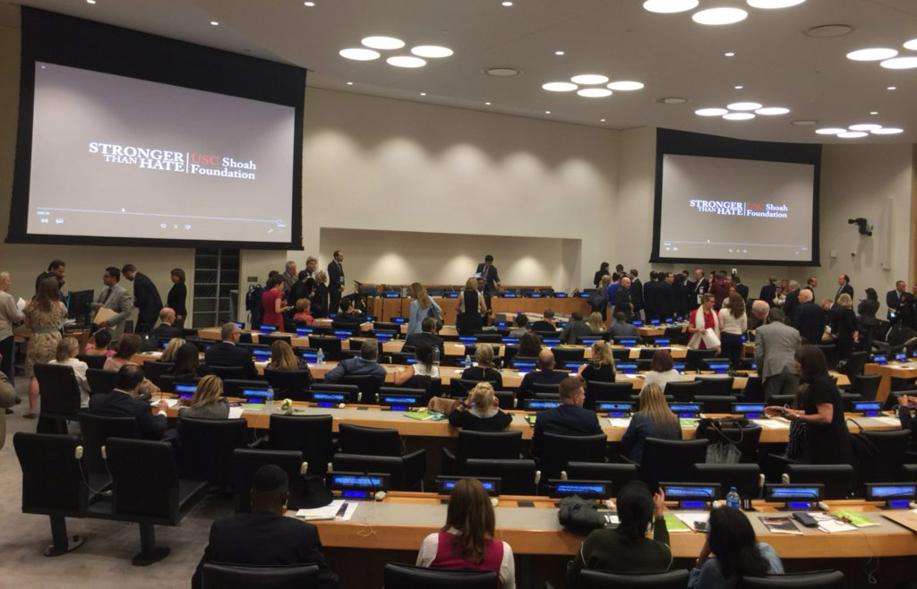 """Countering Antisemitism Through Testimony"" presentation at UN"