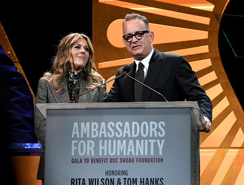 2018 Ambassadors for Humanity Honorees, Rita Wilson and Tom Hanks
