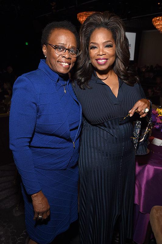 USC Interim President Wanda M. Austin with Oprah Winfrey