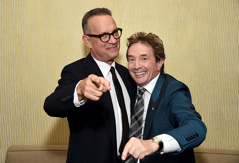 Honoree Tom Hanks with Gala Host Martin Short