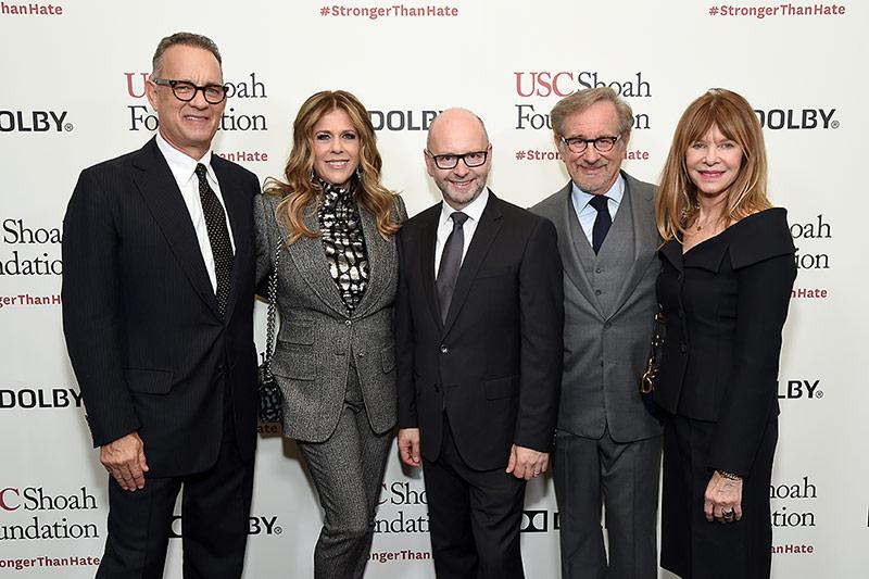 Tom Hanks, Rita Wilson, Stephen D. Smith, Steven Spielberg and Kate Capshaw