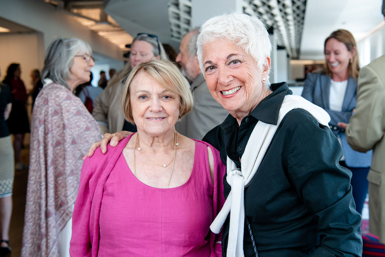 Holocaust survivors Paula Lebovics and Daisy Miller attended the reception