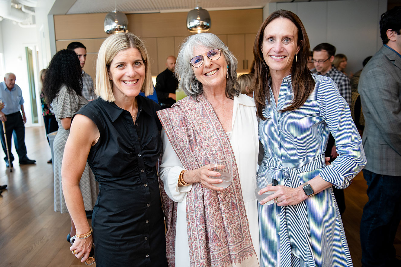 Managing Director Kim Simon with Board Chair Lee Liberman and NGC Vice Chair Lisa Hofheimer