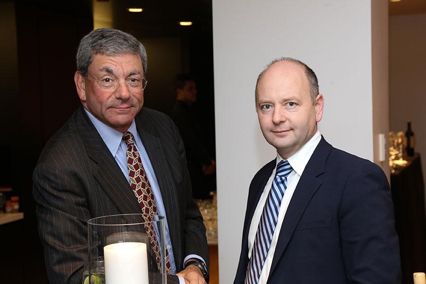 Councilor Member Robert Katz with Finci-Viterbi Executive Director Stephen Smith