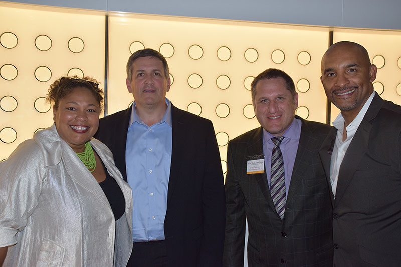 Councilors Karla Ballard Williams and Andrew Intrater, Chief Technology Officer Sam Gustman, Cid Ballard Williams