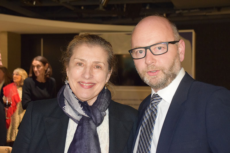 Councilor Trudy Gottesman with Finci-Viterbi Executive Director Stephen Smith