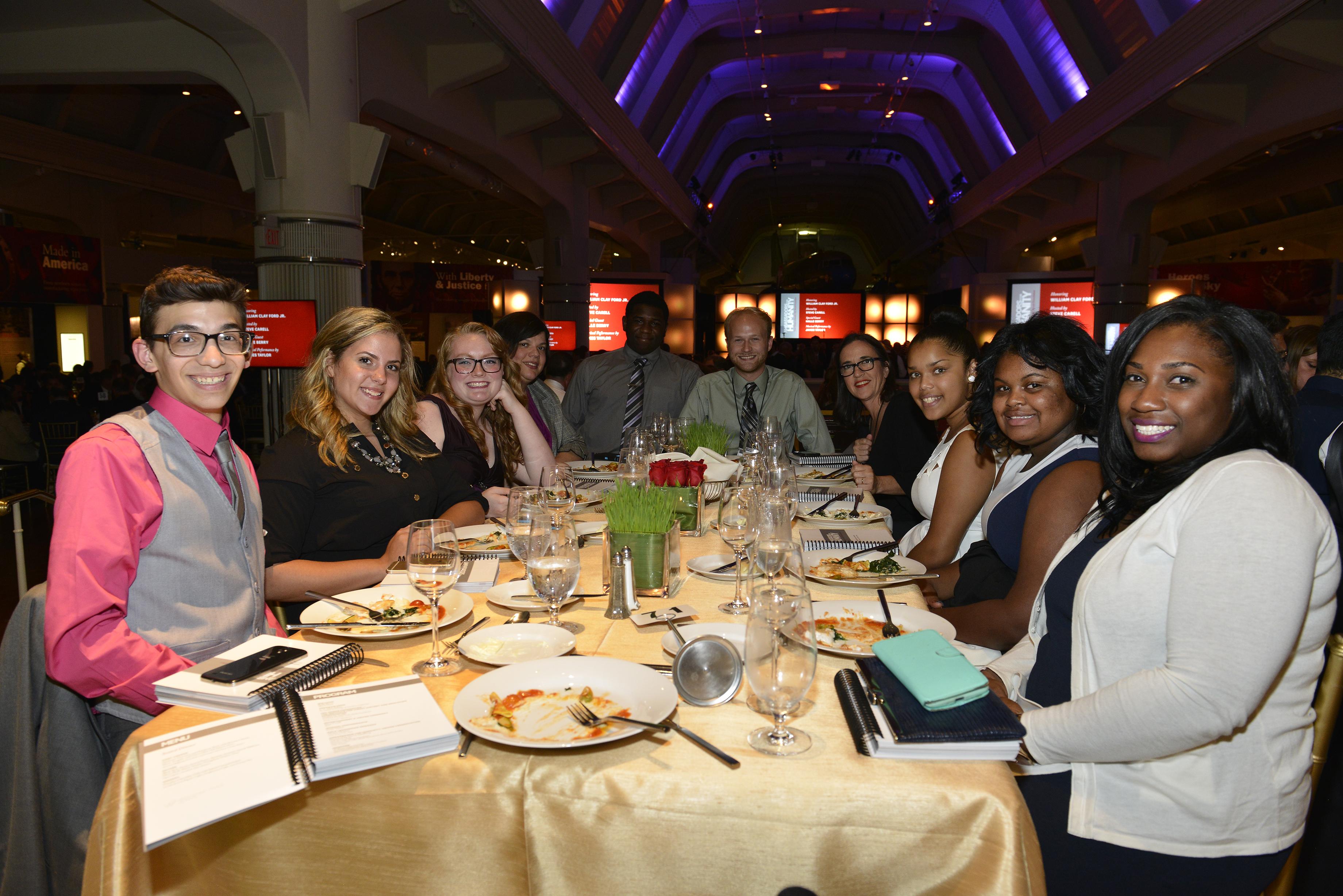 IWitness Detroit students enjoying the gala dinner