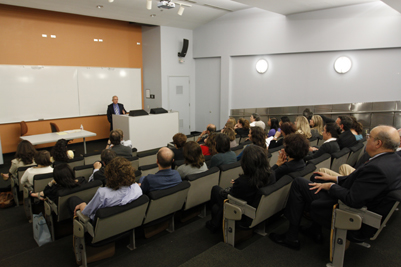 Dr. Taner Akçam, Associate Professor of History, and the Kaloosdian/Mugar Chair in Armenian Genocide Studies at Clark University's Center for Holocaust and Genocide Studies, speaks at USC.