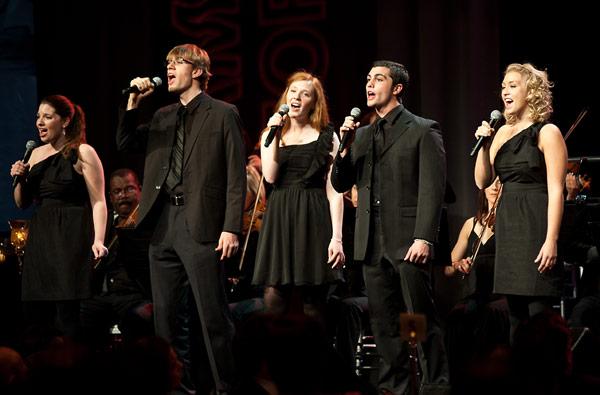 Members of the USC Student Chorus performing at the 2010 Ambassadors for Humanity Gala in honor of Jeffrey Katzenberg.