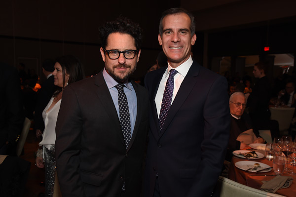 J.J. Abrams and Los Angeles Mayor Eric Garcetti