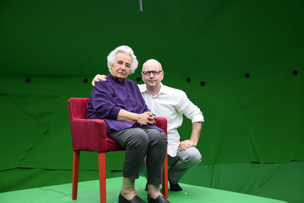 Anita Lasker-Wallfisch (seated) with executive director Stephen Smith