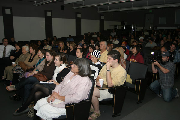 The audience included students and their family members, USC staff, Holocaust survivors, and other members of the local community.