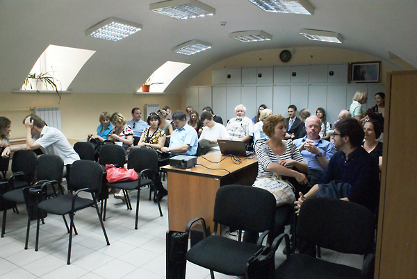 Spell Your Name screening at the 2011 International Forum in Kyiv, June 22, 2011.