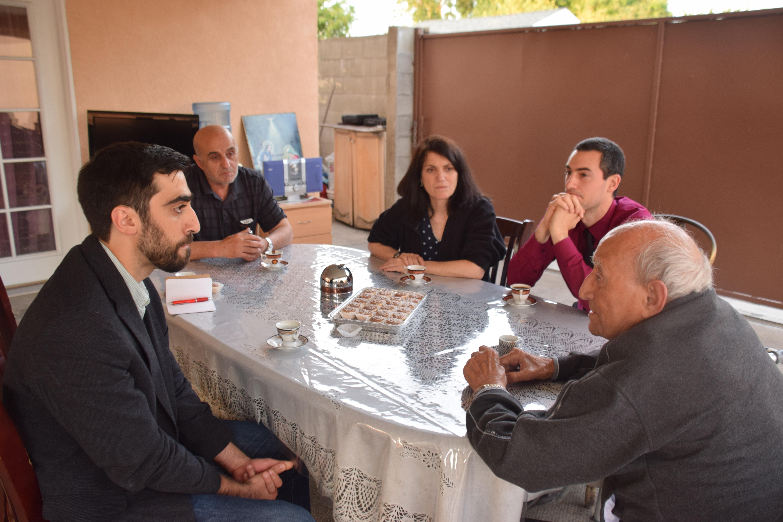 From left: Manuk Avedikian, Agop Margarian, Carla Garapedian, Aleksan Giragosian, Aleksan Markaryan