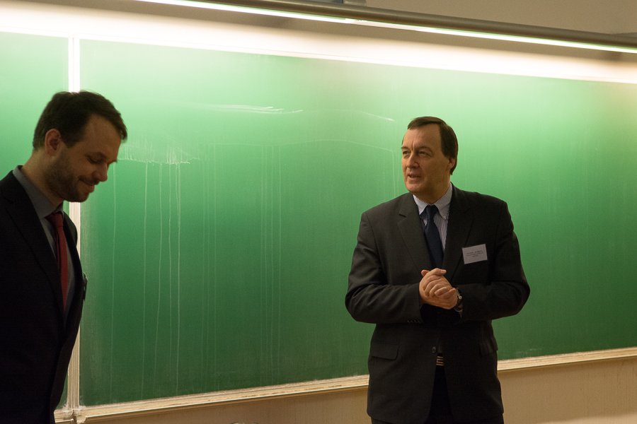 L: Jiří Kocián of the Malach Center for Visual History, Prof. Jan Hajič of the Institute of Formal and Applied Linguistics