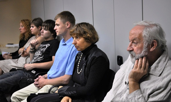 Audience members at Stephen D. Smith's lecture at the Interdisciplinary Judaic Studies Program of the National University Kyiv–Mohyla Academy.