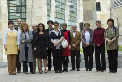 Participants and organizers of the program to develop testimony-based educational lessons after the April 17, 2010 award ceremony at the Holocaust Memorial Center Budapest.
