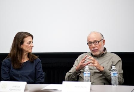 Deborah Openheimer (left), Executive Vice President, NBC Universal; and Mark Harris, Distinguished Professor, USC School of Cinematic Arts.