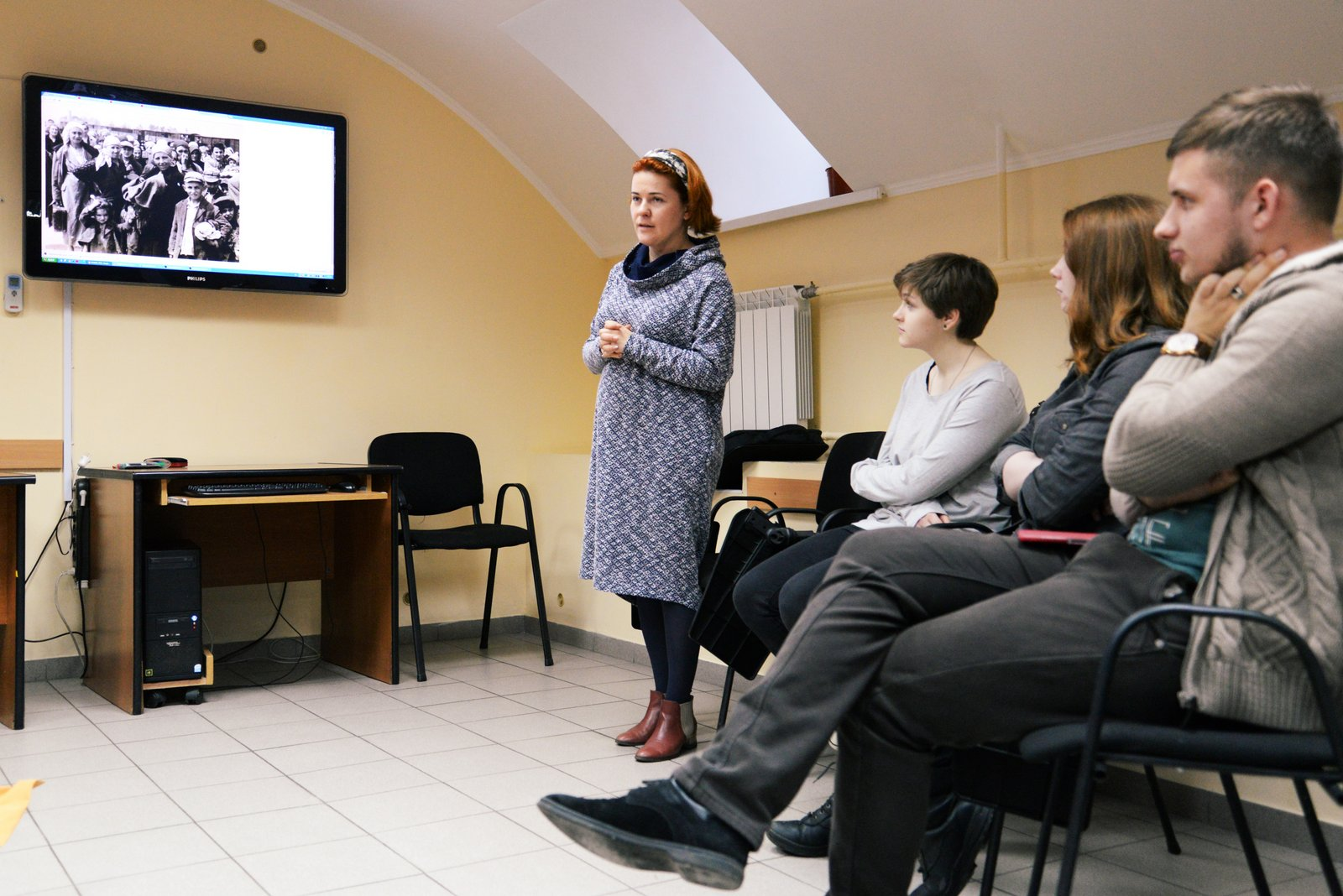 """Arrival at Auschwitz"" Ukrainian Pilot, Kyiv Tolerance Club, January 2016"