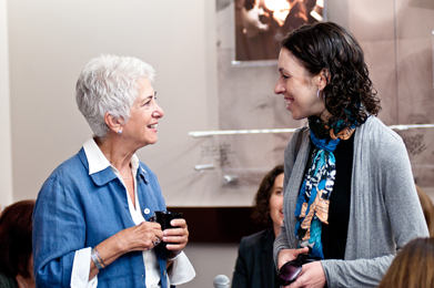 Daisy Miller, Institute Director of Development, Major Gifts; and Charlene Seidle, Vice President, Philanthropy, Jewish Community Foundation of San Diego.