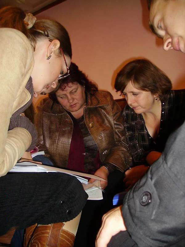 Encountering Memory training seminar in Kharkiv, October 2007.