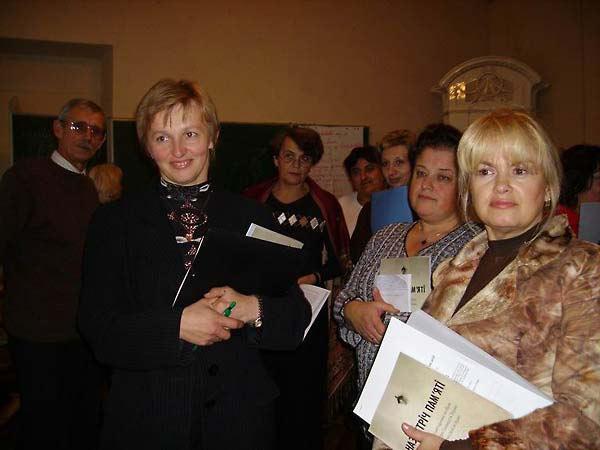 Encountering Memory training seminar in Lviv, November 2007.