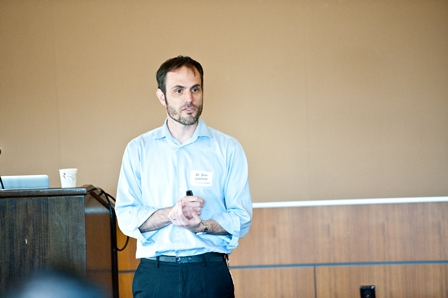 Dan Leshem, Associate Director of Research at the Institute, presents a session titled,